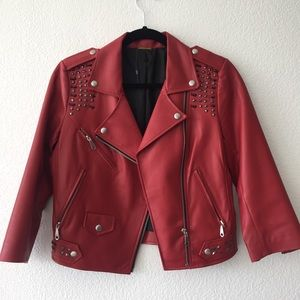 Rebecca Minkoff Auth Leather Jacket